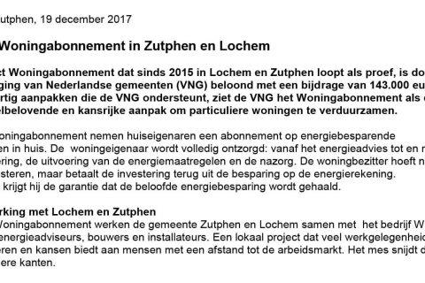 Succes Woningabonnement in Zutphen en Lochem